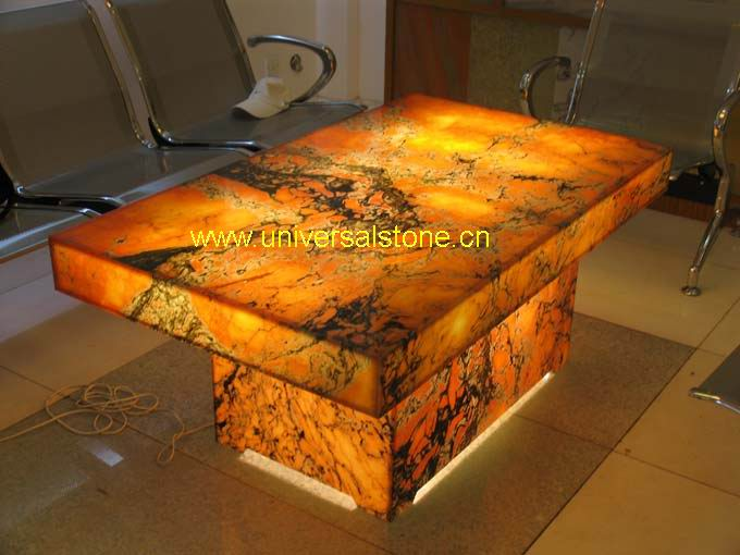 Afterglow Onyx Table Backlit