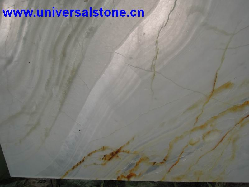 Tranlucent White Onyx Glass Panel-0199